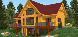 Small cabin plans: The Everest Plan - 1,299 sq ft by 1867 Confederation Log & Timber Frame