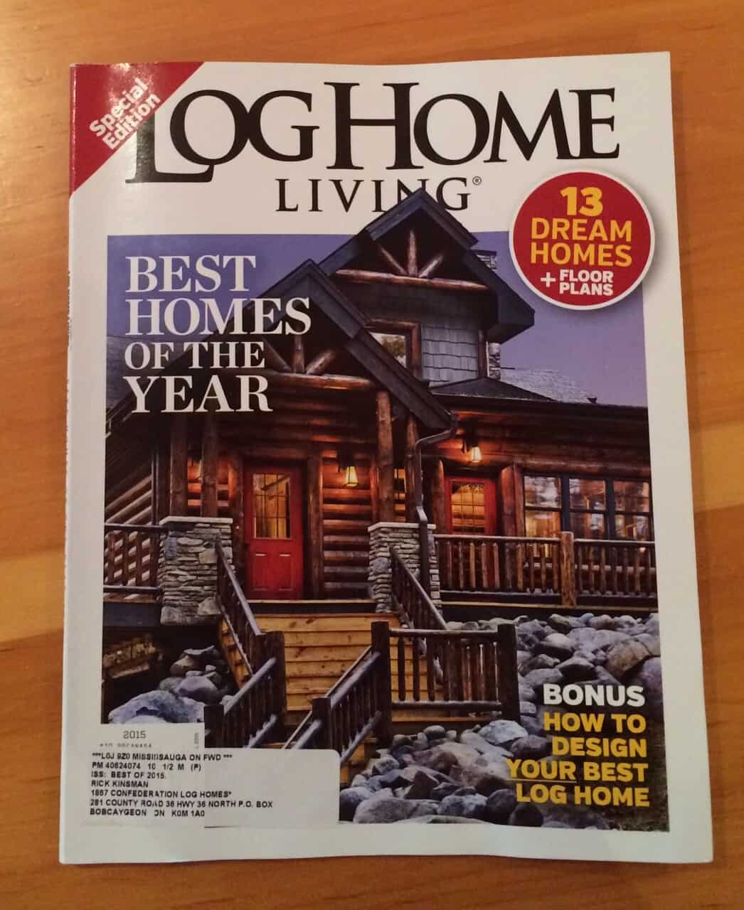 log home living 2