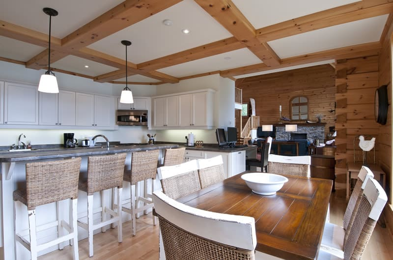 Top 6 Log Home Kitchen Trends for 2016 | Confederation Log ...