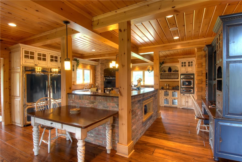 ... Kitchen Trends In Log Cabins Hahn 004 Kitchen Home ...