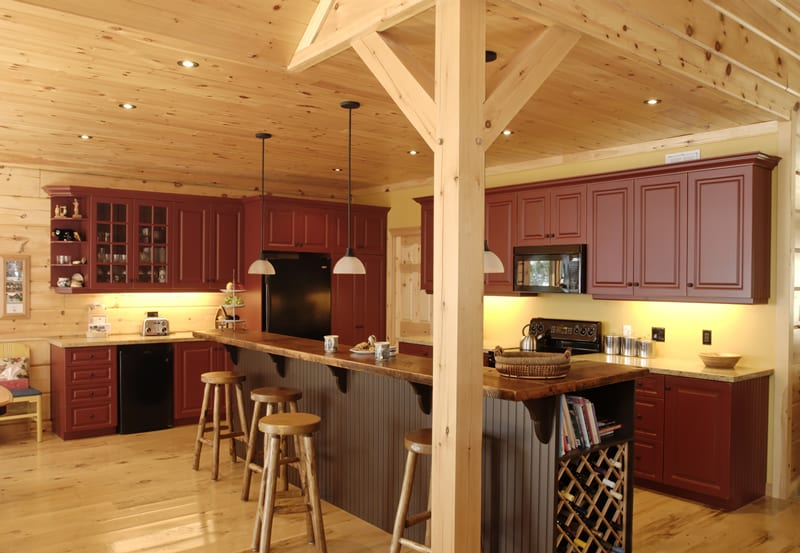 Kitchen Trends in Log Cabins