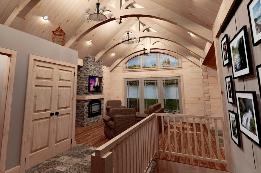 Small Cabin Plans With Big Appeal: The Hardwood Interior With Timber Frame
