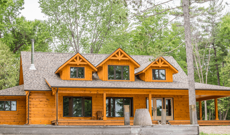 No floor plan? No problem! How one couple designed their cozy log home retreat.