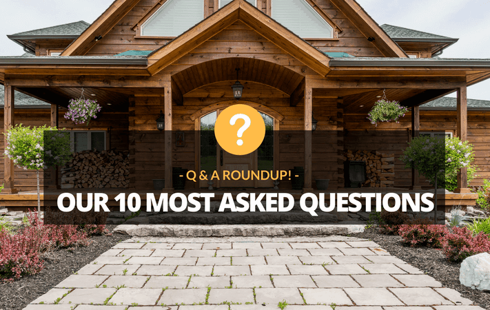 Q&A Roundup! Answers to our most-asked log home questions