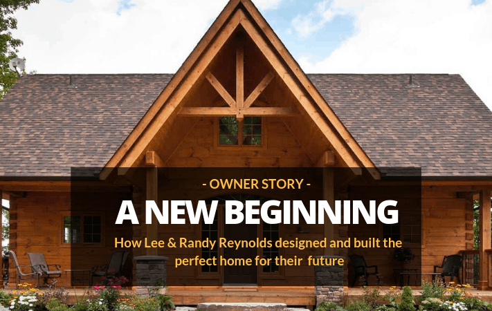 How One Couple Traded Their Aging Cottage for the Log Home of Their Dreams